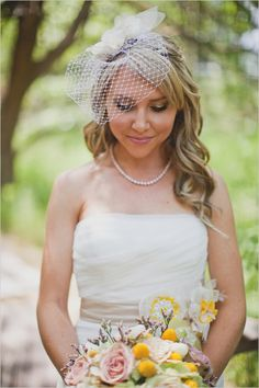 birdcage wedding veil