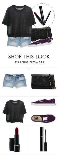 """""""#25"""" by juliamottat ❤ liked on Polyvore featuring Victoria's Secret PINK, Chanel, Vans, MAC Cosmetics, NARS Cosmetics, black, beoriginal and polyvorechic"""