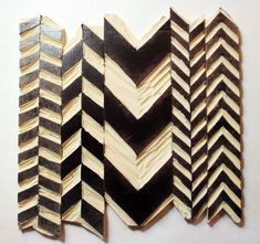 Chevron Stamps - Full Step-by-Step Tutorial using a Linoleum Cutting Block