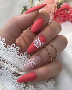 Pretty & Easy Gel Nail Designs to Copy in Trendy Gel Nails Designs Inspira. - Pretty & Easy Gel Nail Designs to Copy in Trendy Gel Nails Designs Inspirations; Lace Nail Art, Lace Nails, Nail Art Dentelle, Almond Gel Nails, Gel Nail Art Designs, Nails Design, Short Gel Nails, Instagram Nails, Insta Instagram