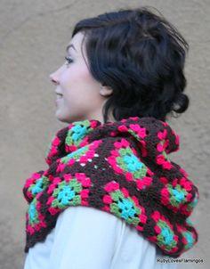 combo inspir, inspiration, crochet afghans, color combos, colors, granny squares, granni squar, afghan cape, crochet cowls