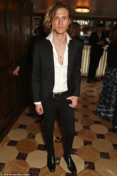 Dougie Poynter teases a little of his chest at LC:M dinner