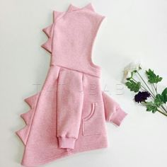 Pink # # DINOzavurk # # @ _ tati_baby_ # # Footer # # Thread, # Cotton # # # Color: # Pink # Melange # (on # photo), # Black, # Dark Green. Baby Girl Dresses, Baby Dress, Toddler Outfits, Kids Outfits, Look Fashion, Kids Fashion, Look Girl, Baby Coat, Little Girl Fashion