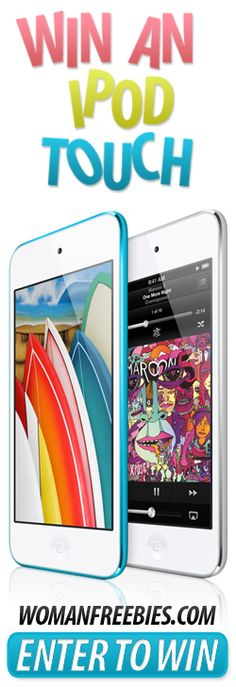 I love Apple products...and it's no exception when it comes to the iPod Touch! Re-pin and click here to WIN an iPod Touch from WomanFreebies! http://womanfreebies.com/sweepstakes/ipod-touch/?win *Expires March 15, 2013*