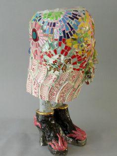 Mosaic Vase, Mosaic Diy, Mosaic Crafts, Mosaic Projects, Craft Projects, Mosaic Ideas, Paper Mache Clay, Mosaic Madness, Clay Vase