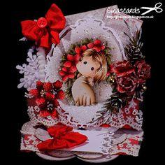 Gina's Cards: Sparkle Poinsettia Tilda