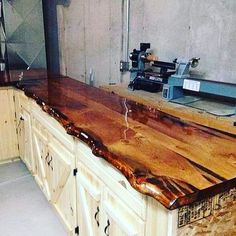 Oh wow. That custom made solid wood slab countertop are fully handmade. Covered in special resin to withstand daily wear and tear from all cooking  activities.  what do you guys think? YES or NO?  #Repost @handonwood (@get_repost)  Yes or no @satisfying_woodwork    Woodworking tools at outstanding discounts  Free Shipping Wordwide@handonwood    #woodworkers #woodworking #woodwork #wood #woodshop #woodworker #woodworkersofinstagram #woodart #woodworkingskills #woodworkingtips #woodturning…