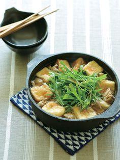 Recipe : 揚げだし豆腐と鶏もも肉の鍋/豆腐からじゅわっとあふれる旨みに心なごむ #レシピ #Recipe