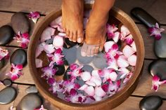 1 or 2 Manicures and Copper-Bowl Pedicures or 1 Copper-Bowl Pedicure at Beyond Organic Salon Spa (Up to Off) Diy Pedicure, Pedicure At Home, Nail Designs Hot Pink, Local Nail Salons, Clem, Foot File, Foot Detox, Set Up An Appointment, Foot Massage