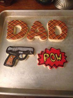 Gun sugar cookies