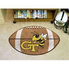 Georgia Tech GT Football Floor Rug Mat