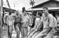 Actress Jayne Mansfield visits with wounded American soldiers at the 3rd surgical hospital at Bien Hoa Vietnam on Feb. 18 1967 [1024x666] http://ift.tt/2gXqFyq