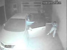 Arabasını park eden vatandaşa saldıran silahlı soyguncunun sonu.