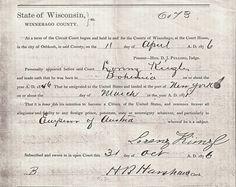 Citizenship paper for Lorenz Kuenzl (great great grandfather)