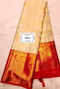 Kanjeevram saree Handloom, pure silk, we take customised pre-orders. Kerala Saree, Ethnic Sarees, Indian Sarees, Online Saree Purchase, Engagement Saree, Bridal Hairstyle Indian Wedding, Golden Saree, Pattu Saree Blouse Designs, Indian Costumes