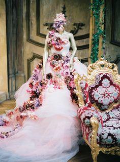 Wedding Dress: Custom -  Photography: Lena Kozhina - http://www.stylemepretty.com/portfolio/lena-kozhina   Read More on SMP: http://www.stylemepretty.com/2015/02/18/high-fashion-russian-wedding/