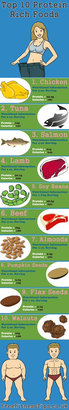 Top 10 Protein Rich Foods Infographic