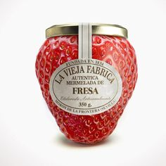 This strawberry jam jar says it all. It's very popular because of it's simplicity. PD