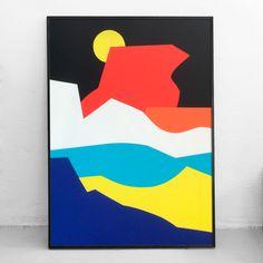 Abstract landscape - Papercut poster - 50 x 70 cm