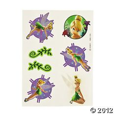 Tinker Bell™ Fairies Tattoos, Tattoos & Body Art, Novelty Jewelry, Party Themes & Events - Oriental Trading