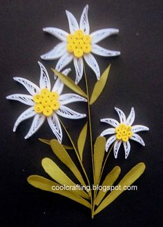 Quilling by lesley Quilling Flowers Tutorial, Quilling Instructions, Quilling Patterns, Quilling Designs, Origami, Quilling Paper Craft, Paper Crafts, Thinking Day, Flower Crafts