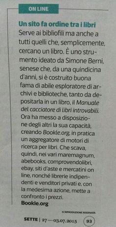 Ieri su Sette del Corriere della Sera