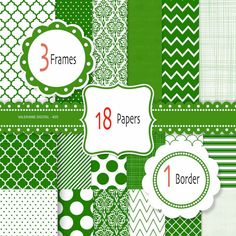 Green digital paper green scrapbook paper by ValerianeDigital  https://www.etsy.com/listing/111375129/green-digital-paper-green-scrapbook?ref=shop_home_active_18
