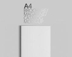 A4 Brochure/Magazine/Catalog Mock-Up by PositivePixels on @creativemarket