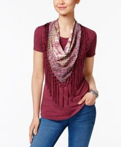 96a94f73de9 Style   Co T-Shirt with Detachable Scarf