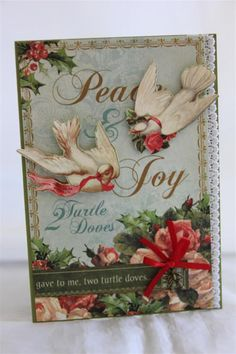 Graphic 45 '12 Days of Christmas' card by Helen of Helen's Cards Designs - Wendy Schultz ~ Christmas Cards & Tags.