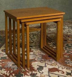 nesting tables are a great way to save space and get as much table as possible.
