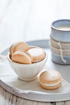 White vanilla macaroons ♥