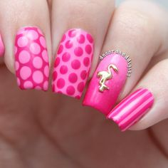 Pink flamingo nails by decorateddigits