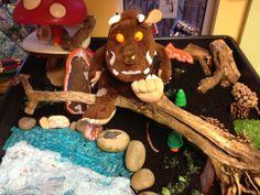 Gruffalo small world classroom display photo - Photo gallery - SparkleBox Gruffalo Eyfs, The Gruffalo, Gruffalo's Child, Room On The Broom, Continuous Provision, Tuff Spot, Traditional Tales, Tuff Tray, Small World Play
