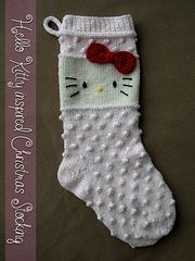Ravelry: Hello Kitty inspired Christmas Stocking pattern by Janet Jameson