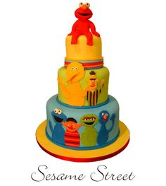 sesame street cake. (ok, probably won't ever actually do this for e, but it's pretty stinkin' great!)