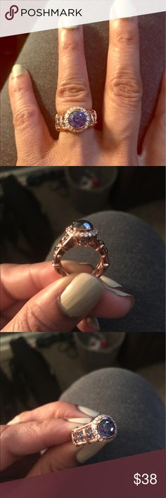Rose Gold Remy Rotenier Ring Bella Luce 5.42 ctw Remy for Rose Joined Hands. The ring is gorgeous.  Worn twice. No damage. Bella Luce Jewelry Rings