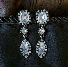 Antique or Vintage Style Crystal Drop by BlingAfterTheRing on Etsy