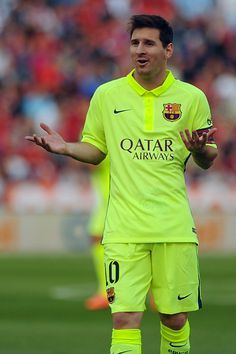- Lionel Messi in the Neon Kits - Messi 2015, Messi And Neymar, Messi Soccer, Lionel Messi, Soccer Stars, Sports Stars, Good Soccer Players, Football Players, Fc Barcelona