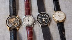 Vintage watches worn by famous men