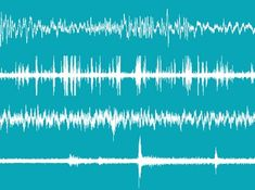 Brain waves stock image