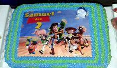 Bolo personalizado com o Papel Arroz no tema Toy Story. Quem não ama esse desenho?!