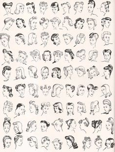 vintage hairstyles 81 Hairstyles that Women Loved in Vintage Hairstyle Inspiration/ Hair/ Illustration. Smart Hairstyles, Retro Hairstyles, Wedding Hairstyles, Drawing Hairstyles, Wedding Updo, Latest Hairstyles, Homecoming Hairstyles, Trendy Hairstyles, Pelo Retro