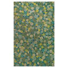 Liora Manne Visions III Giant Swirls Indoor/Outdoor Rug - Green