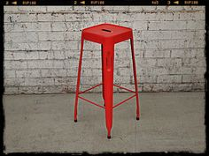 Holy Funk - Industrial Tolix Bar Stool Red, $89.00 (http://www.holyfunk.com.au/furniture/industrial-tolix-bar-stool-red/)