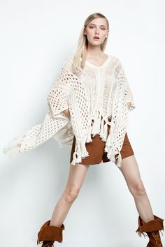 INFINITY PONCHO 100% COTTON