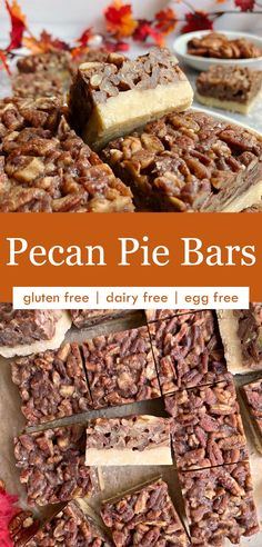 These healthy maple pecan bars are just what you need for the holidays! A paleo and vegan pecan dessert that doesn't taste healthy, but is made from real, wholesome ingredients. These bars have an almond flour shortbread crust and a nutty maple and pecan filling. They're basically a pecan pie in cookie bar form! #pecanbars #pecanpie #maplepecan #vegandessert #paleodessert My Dessert, Paleo Dessert, Healthy Dessert Recipes, Gluten Free Desserts, Shortbread Recipes, Shortbread Crust, Paleo Pecan Pie, Glass Baking Pan, Pecan Desserts