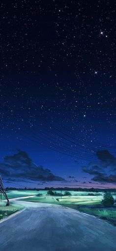 Anime Backgrounds Wallpapers, Anime Scenery Wallpaper, Landscape Wallpaper, Blue Wallpapers, Anime Night, Sky Anime, Blue Anime, Blue Wallpaper Iphone, Night Sky Wallpaper