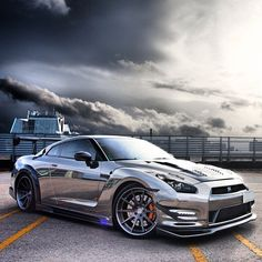 #Chromed up baby! Gorgeous Nissan GT-R!