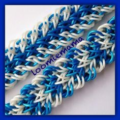 """This is a hooked design. No loom needed.   *Zuzu*  New """" Cirrus"""" Rainbow Loom Bracelet/How To Tutorial"""